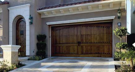 premier overhead door - wood garage door
